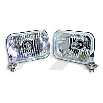 RT28005 Headlight Conversion Kit - Clear Lens, Glass lens,, Direct Fit, Set of 2