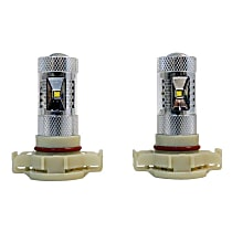 Fog Light Bulb - Silver, LED, Universal, Set of 2