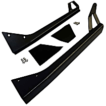RT28089 Windshield Light Mount Bracket - Black, Steel, Direct Fit