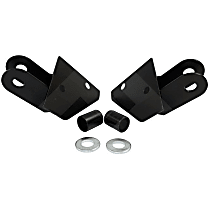 RT Off-Road RT30010 Mirror Relocation Bracket - Black, Metal, Direct Fit