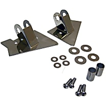 RT30015 Mirror Relocation Bracket - Polished, Metal, Direct Fit