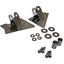 RT Off-Road RT30015 Mirror Relocation Bracket - Polished, Metal, Direct Fit