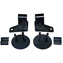 RT Off-Road RT30016 Mirror Relocation Bracket - Black, Metal, Direct Fit