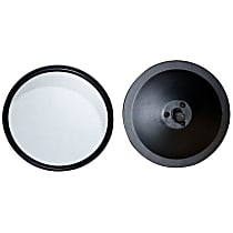 Driver and Passenger Side Mirror - Manual Glass,, Black