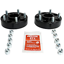 RT Off-Road RT32013 Wheel Spacer - Anodized Black, Aluminum, Direct Fit, Set of 2
