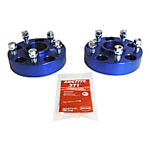 RT Off-Road RT32018 Wheel Spacer - Blue, Aluminum and Steel, Direct Fit, Kit