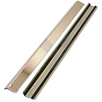 RT34010 Door Sill Protector - Brushed, Stainless Steel, Direct Fit, Set of 2