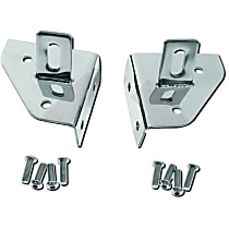 RT34018 Windshield Light Mount Bracket - Polished, Stainless Steel, Direct Fit