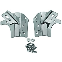 RT Off-Road RT34067 Windshield Light Mount Bracket - Polished, Stainless Steel, Direct Fit