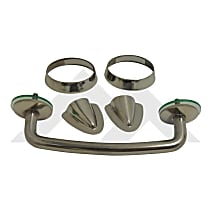 RT34068 Windshield Tie Down Kit - Polished, Stainless Steel, Direct Fit