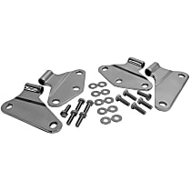 RT34070 Door Hinge - Driver or Passenger Side, Unpainted, Stainless Steel, Direct Fit, Set of 4