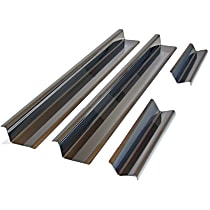 RT34073 Door Sill Protector - Brushed, Stainless Steel, Direct Fit, Set of 4