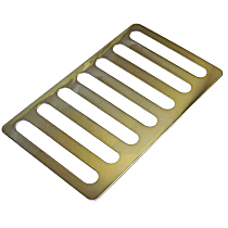 RT Off-Road RT34078 Hood Vent - Polished, Stainless Steel, Direct Fit