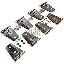 RT34079 Door Hinge - Unpainted, Stainless Steel, Direct Fit, Set of 8