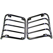 RT Off-Road Tail Light Guard - RT34080 - Polished, Stainless Steel, Set of 2