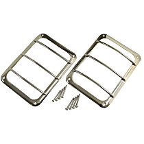 RT Off-Road Tail Light Guard - RT34081 - Polished, Stainless Steel, Set of 2