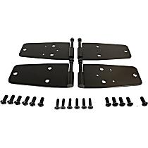 RT34093 Door Hinge - Front, Black, Stainless Steel, Direct Fit, Set of 4