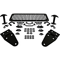 RT Off-Road RT34099 Hood Trim Kit - Black, Stainless Steel, Direct Fit, Kit