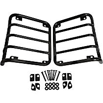 RT Off-Road Tail Light Guard - RT34102 - Powdercoated Black, Stainless Steel, Set of 2