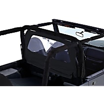 RT Off-Road WB10015 Wind Screen - Black, Fabric, Direct Fit, Sold individually