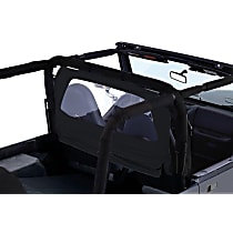 RT Off-Road WB10035 Wind Screen - Black, Fabric, Direct Fit, Sold individually