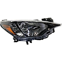 Passenger Side Headlight, Without bulb(s) - 2016 iA/16-18 Yaris (Base/L/LE/Premium Model), Sedan