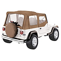 RT10037 RT Off-Road Replacement Tan Vinyl Coated Polyester and Cotton Soft Top - Without Frame (Requires Factory Frame)