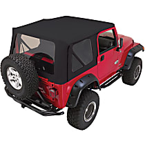 RT10215T RT Off-Road Replacement Black Vinyl Coated Polyester and Cotton Soft Top - Without Frame (Requires Factory Frame)
