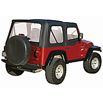 RT10315 RT Off-Road Replacement Black Vinyl Coated Polyester and Cotton Soft Top - Without Frame (Requires Factory Frame)