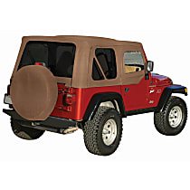 RT Off-Road Replacement Tan Vinyl Coated Polyester and Cotton Soft Top - Without Frame (Requires Factory Frame)