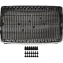 Grille Assembly - Chrome Shell and Insert, with Bug Screen