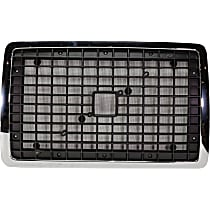 Grille Assembly - Chrome Shell with Painted Black Insert, with Bug Screen