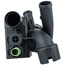 Thermostat Housing - Black, Direct Fit, Sold individually