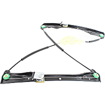Front, Passenger Side Power Window Regulator, Without Motor and Panel