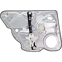 Rear, Passenger Side Power Window Regulator, Without Motor and Panel