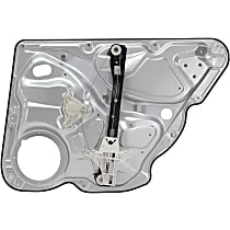 Rear, Driver Side Power Window Regulator, Without Motor and Panel