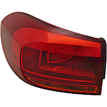 CAPA Certified Driver Side, Outer Tail Light, With bulb(s)