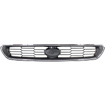 Grille Assembly - Chrome Shell with Painted Silver Black Insert