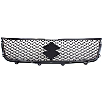 Grille Assembly - Painted Silver Shell and Insert Black
