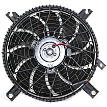 OE Replacement A/C Condenser Fan - Fits w/ Round plug, Mounts Behind Grille