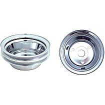 4438 Crankshaft Pulley - Chrome, Steel, Direct Fit, Sold individually