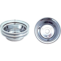 Spectre 4438 Crankshaft Pulley - Chrome, Steel, Direct Fit, Sold individually