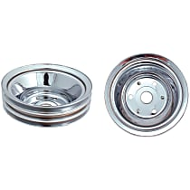 Crankshaft Pulley - Chrome, Steel, Direct Fit, Sold individually