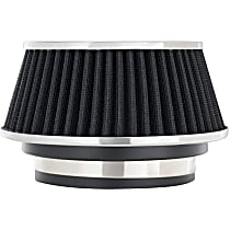 8161 Universal Air Filter - Black, Cotton Gauze, Washable, Universal, Sold individually