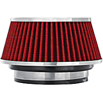 8162 Universal Air Filter - Red, Cotton Gauze, Washable, Universal, Sold individually