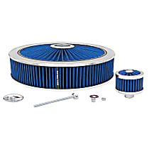 Air Cleaner Assembly - Blue, Synthetic, Universal, Assembly