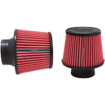 9132 Universal Air Filter - Red, Cotton Gauze, Washable, Universal, Sold individually
