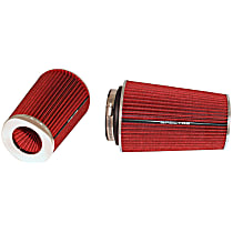 9732 Universal Air Filter - Red, Cotton Gauze, Washable, Universal, Sold individually