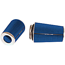 9736 Universal Air Filter - Blue, Cotton Gauze, Washable, Universal, Sold individually
