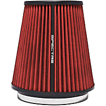 Spectre HPR9891 Universal Air Filter - Red, Cotton Gauze, Washable, Universal, Sold individually